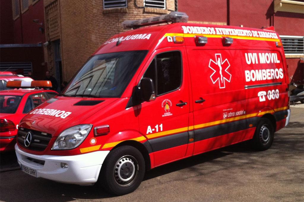 La UVI móvil de bomberos de Zaragoza podría desaparecer si el Ayuntamiento no actúa urgentemente