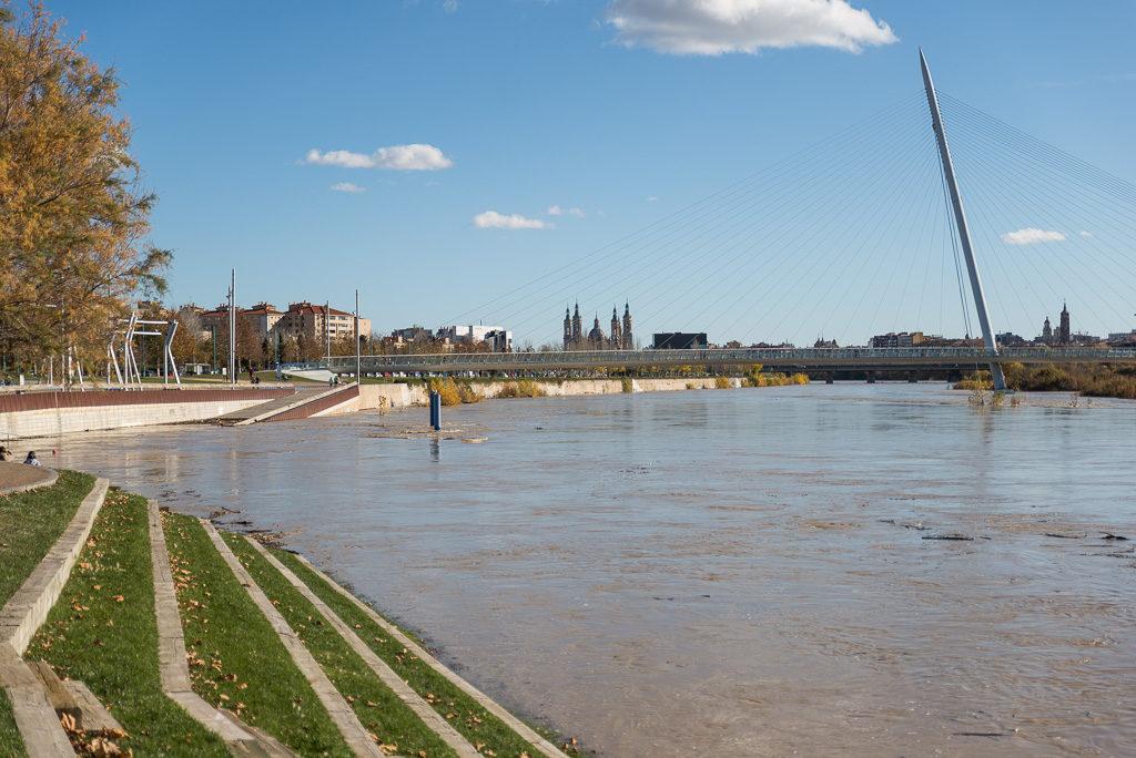 La DGA activa la alerta por la borrasca Elsa tras desactivar la emergencia por la crecida del Ebro
