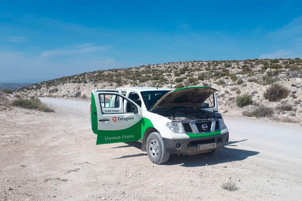 Aumentan los agentes forestales de la Unidad Verde de Zaragoza pero no los vehículos que necesitan