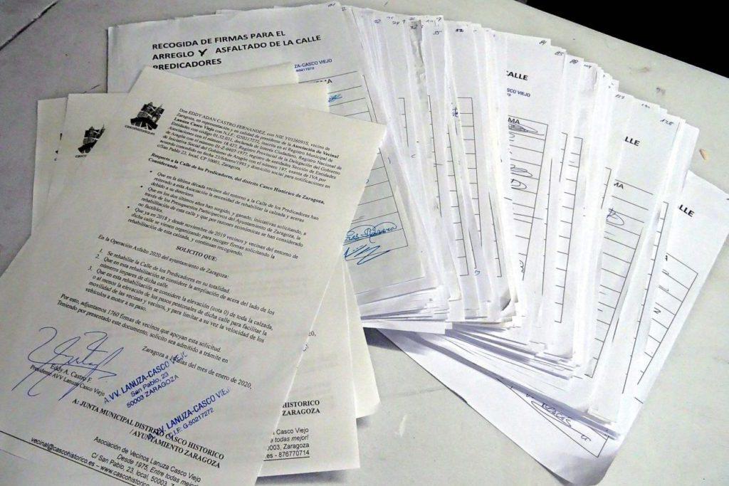 1.760 vecinos y vecinas piden la rehabilitación de la calle Predicadores de Zaragoza