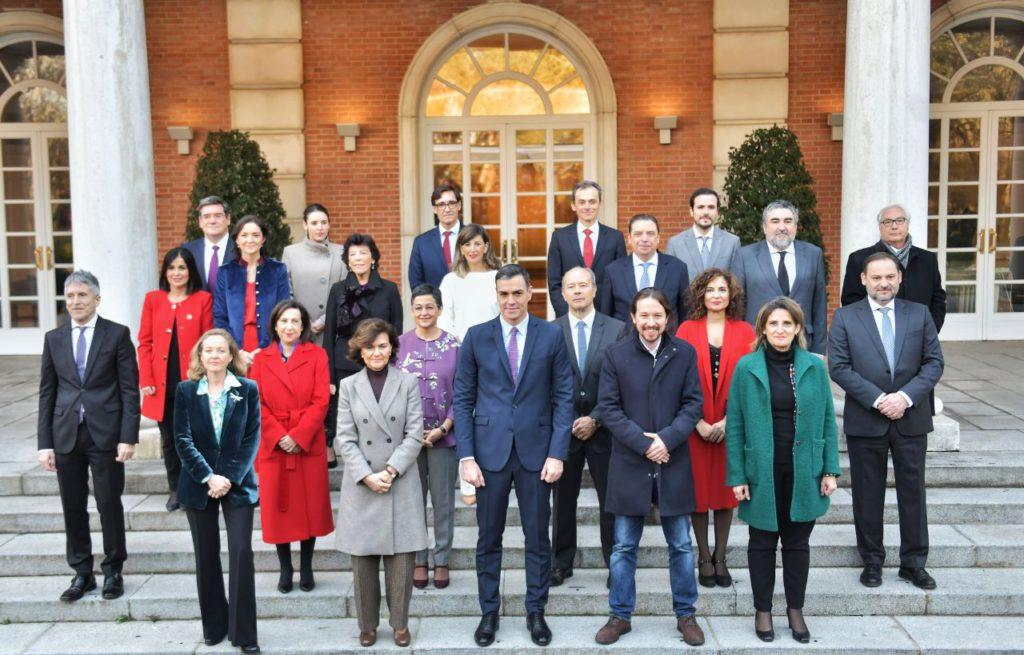 Primer Consejo de Ministros y Ministras del Gobierno de coalición: subida de las pensiones, reunión con Torra y defensa de Delgado