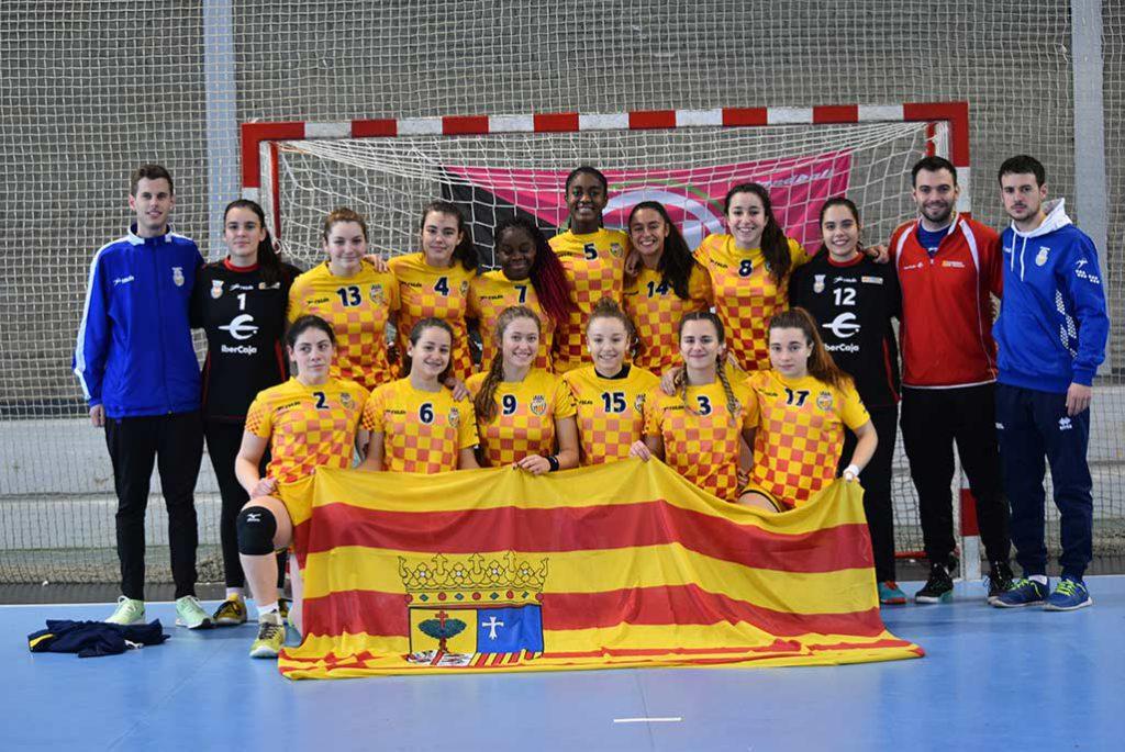 Aragón se proclama por partida doble subcampeona de la Copa de España y logra el ascenso al Campeonato de España con su combinado femenino juvenil
