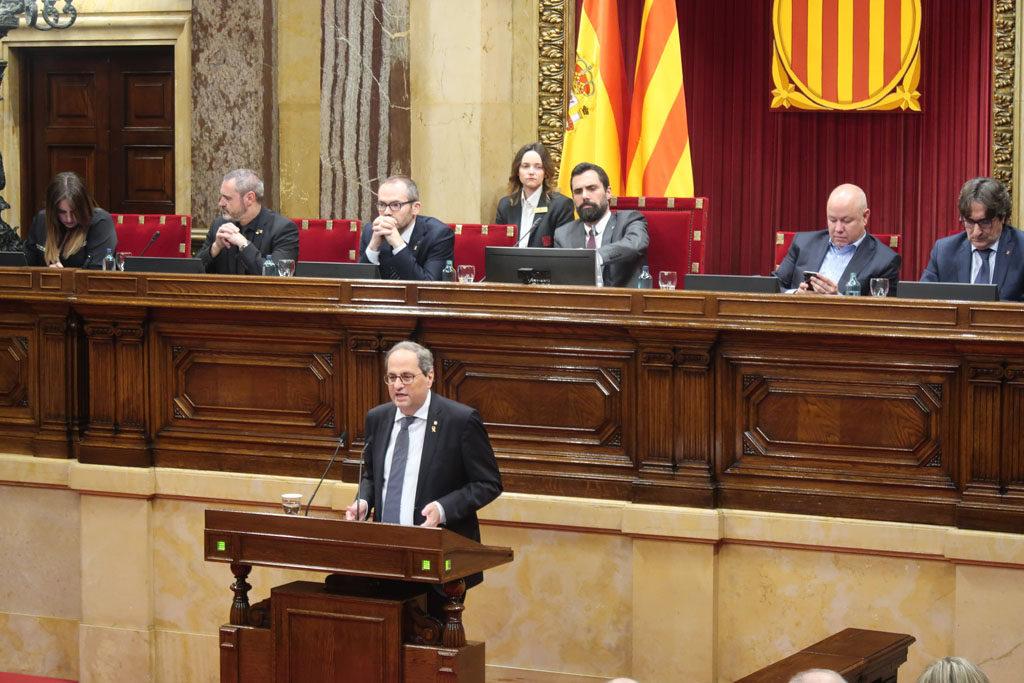 El Parlament ratifica a Quim Torra como president de Catalunya y califica de «golpe de Estado» la decisión de la JEC