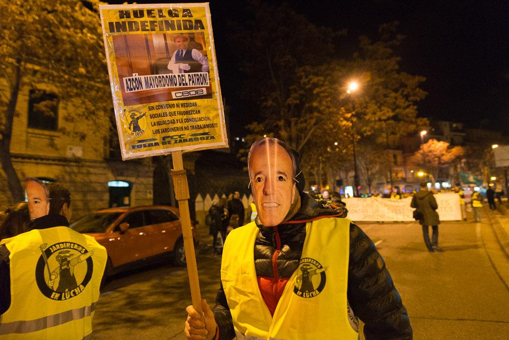 Las y los jardineros en huelga indefinida por sus derechos y por dignidad