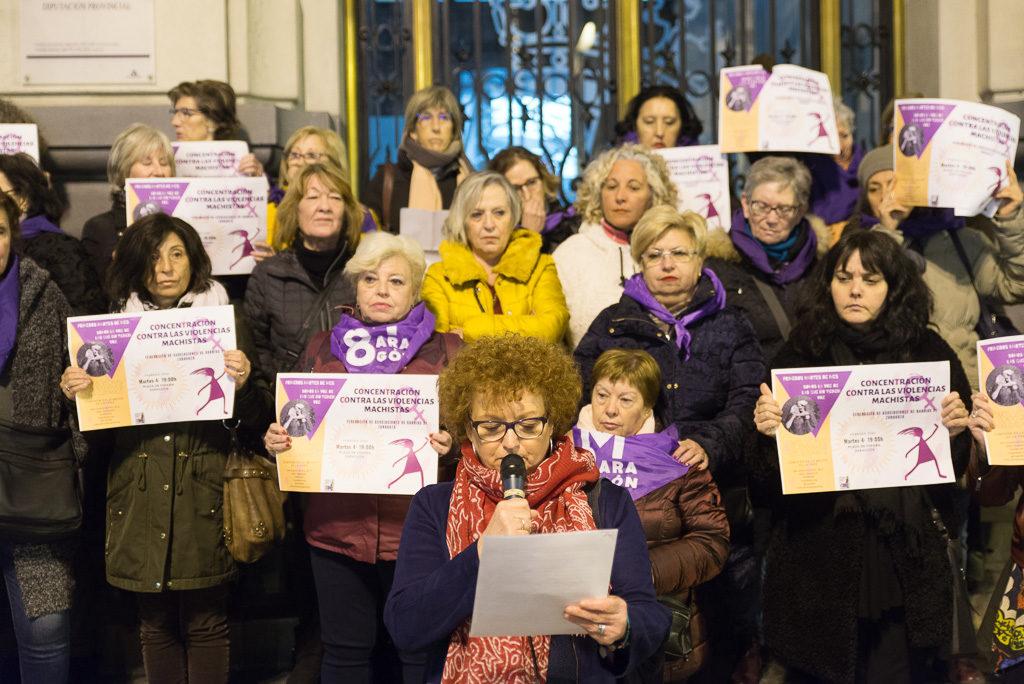 Primera concentración contra las violencias machistas de la FABZ sin el apoyo del Ayuntamiento de Zaragoza