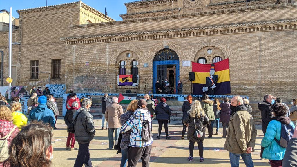 El acto se ha celebrado en la plaza de la Memoria. Foto: @igoiz17 (AraInfo)
