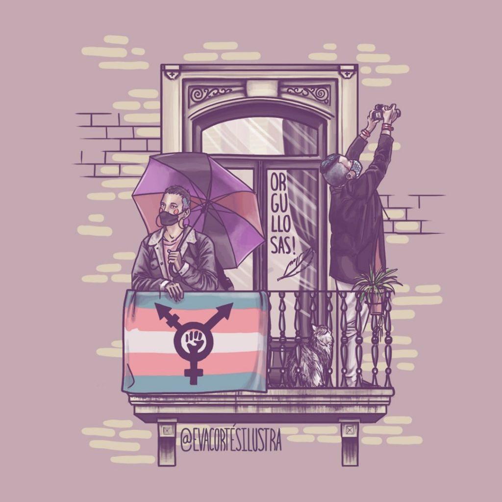 Campaña de acoso transfoba contra el cartel del 8M Zaragoza y su ilustradora Eva Cortés