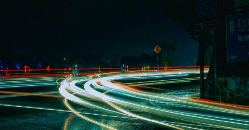Accidente Coche Luces Carretera Autovía Autopista
